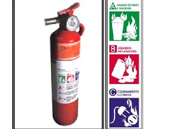 Novo extintor de incêndio veicular abc